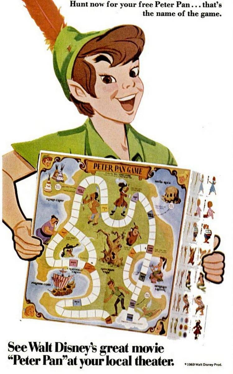 Disney 1969 Peter Pan game from the '60s