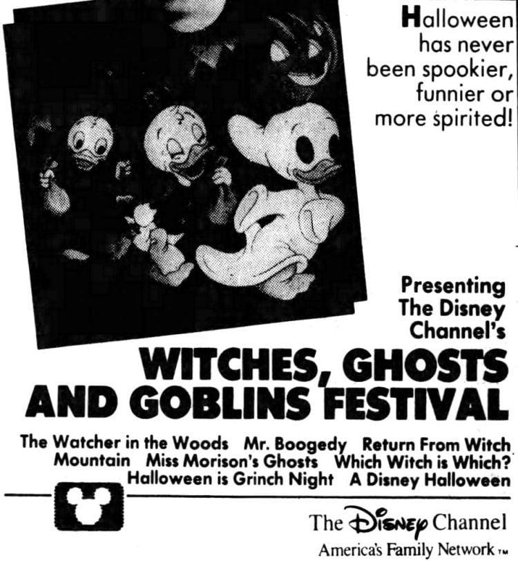 Disney Halloween 1988