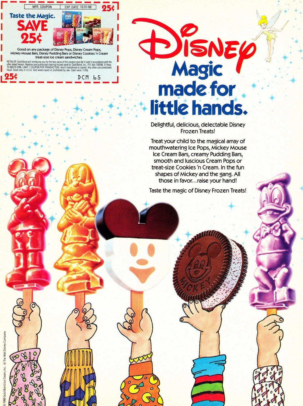 Disney frozen treats - pops (1988)