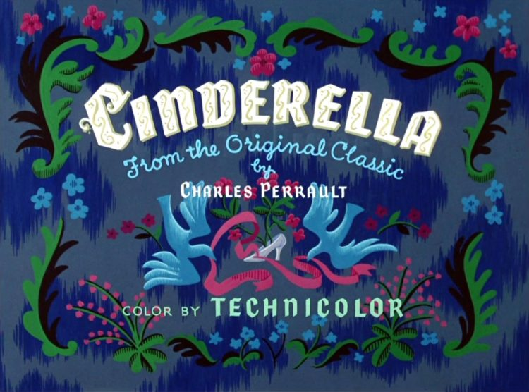 Disney movie - Cinderella - title card from 1950