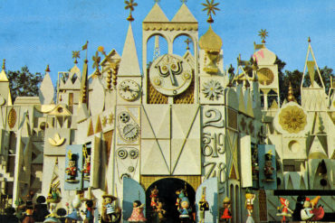 Disneyland Small World facade vintage postcard