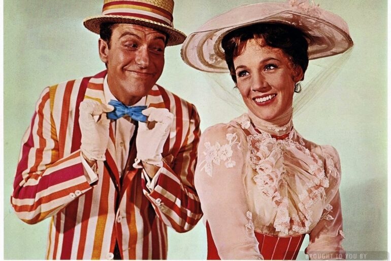 Disney's Mary Poppins movie - Dick Van Dyke and Julie Andrews