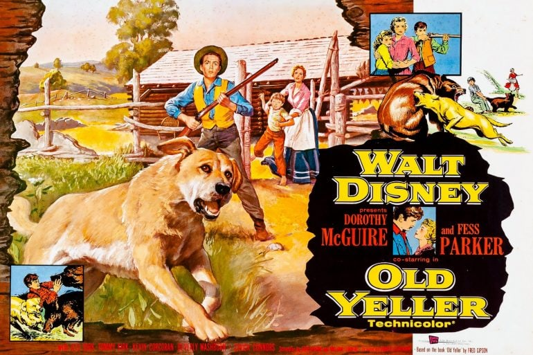 Disney's Old Yeller movie 1957-1958