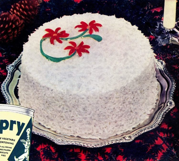 Dixie Christmas cake - Vintage recipe from 1941-001