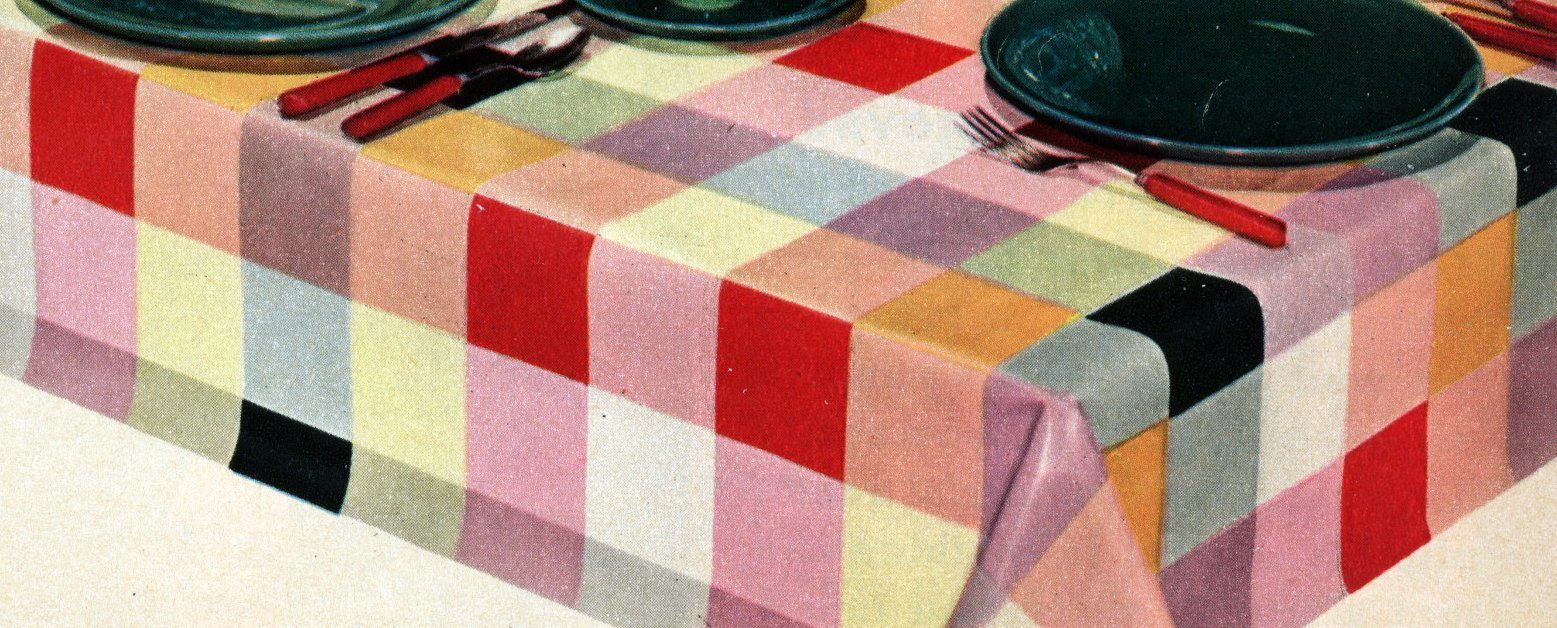 Do It Yourself Home Decorating Ideas: Do-it-yourself Home Decor With Colorful Oilcloth (1952