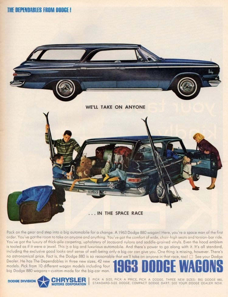 Dodge station wagons from 1963