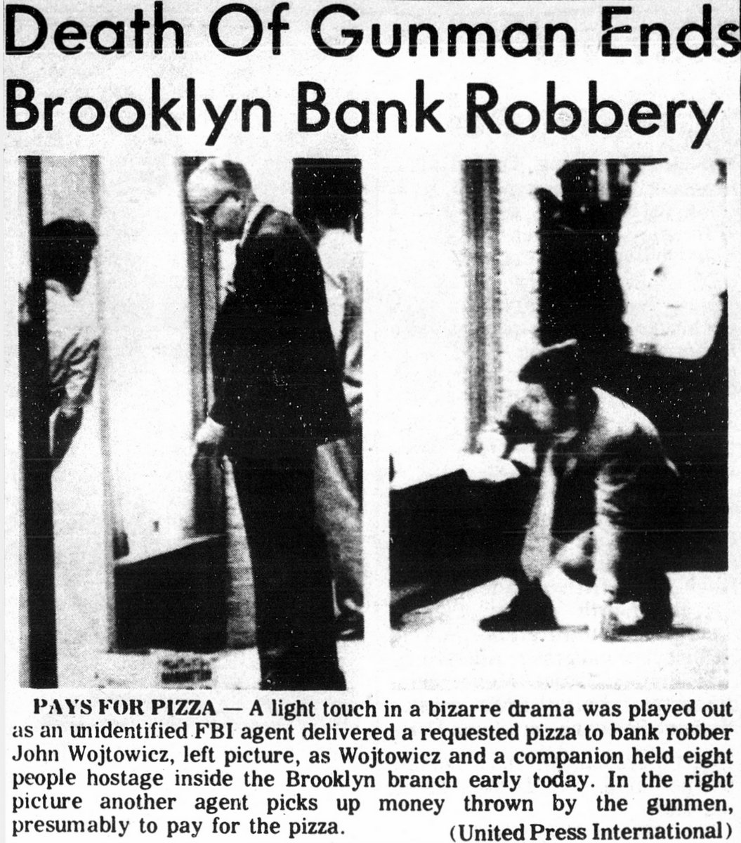Dog Day Afternoon bank robbery - 1972