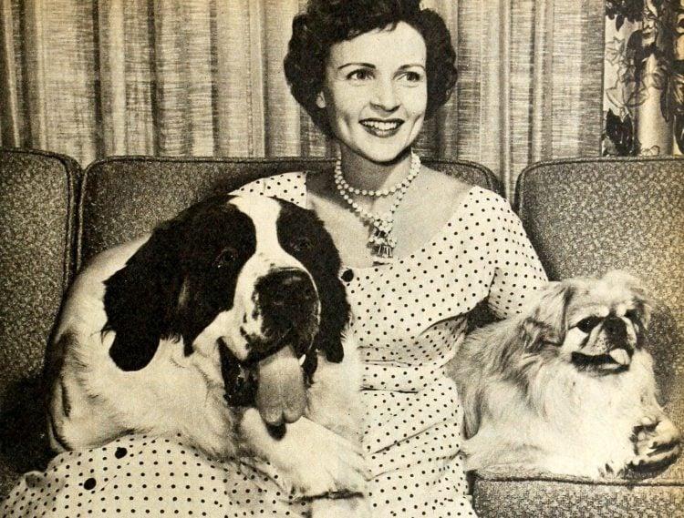 Dog lover Betty White