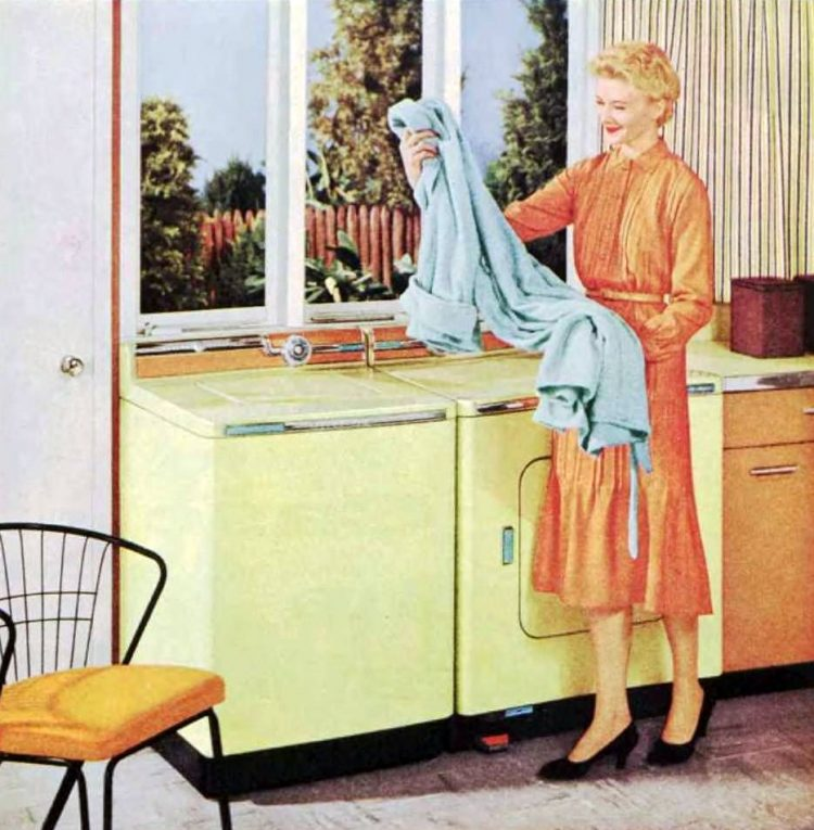 Doing the laundry in 1956