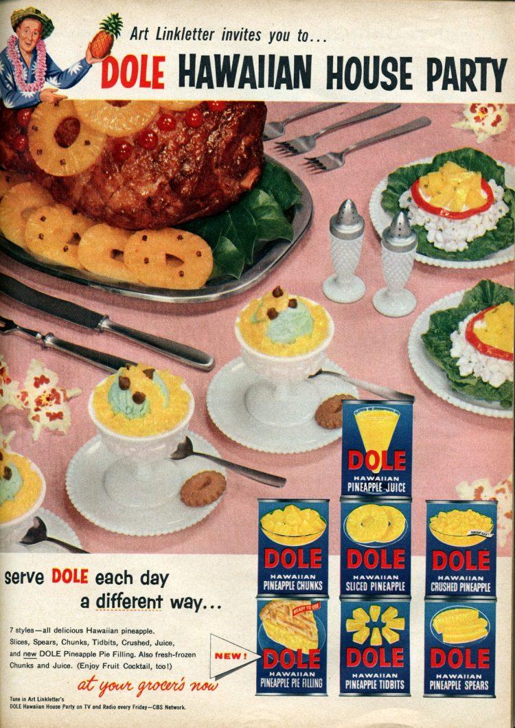 Dole Hawaiian house party recipes from 1956