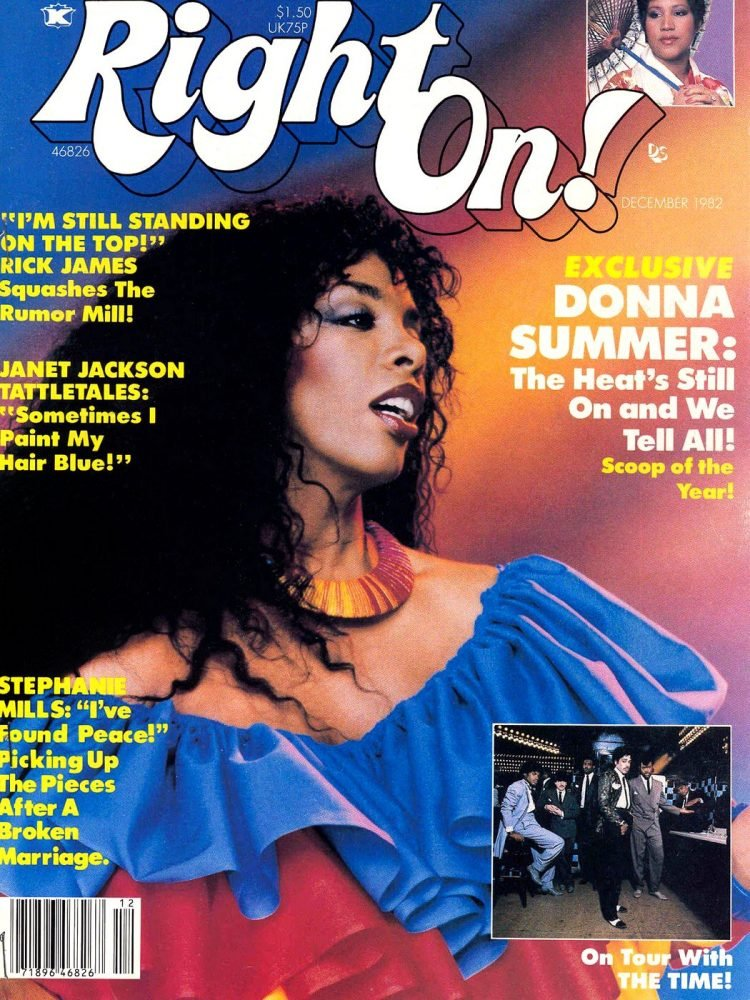 Donna Summer on Right On magazine cover