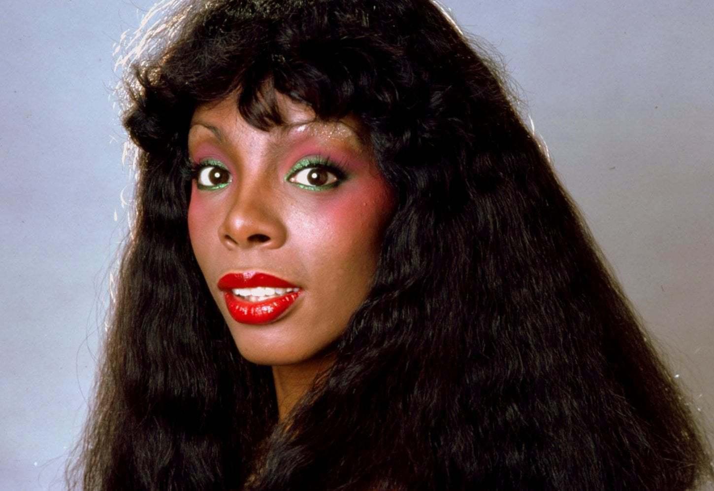 Donna Summer with eyeshadow