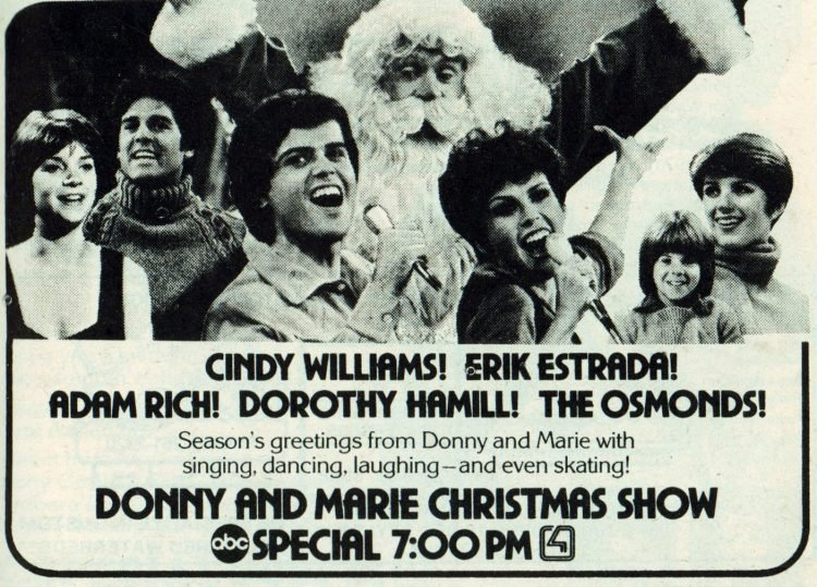 Donny and Marie Christmas show 1979