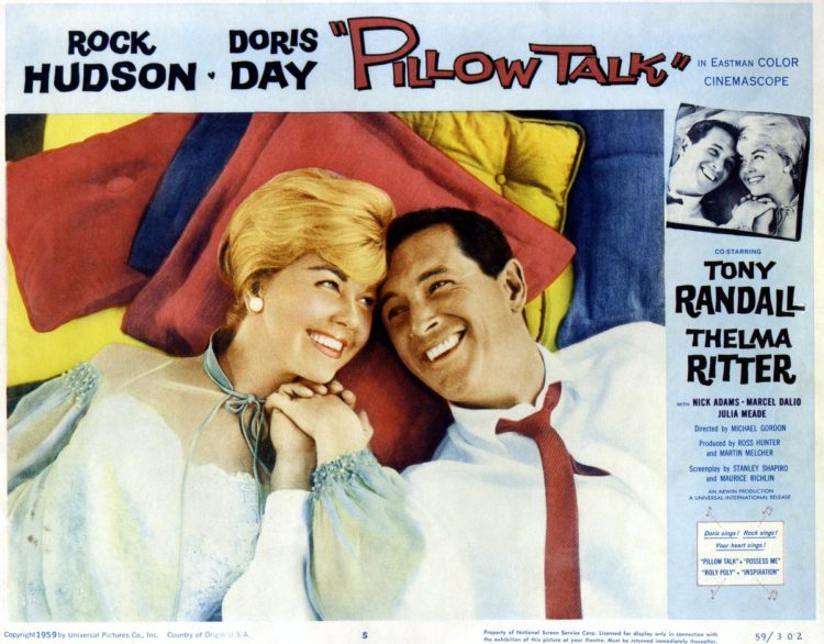 Doris Day and Rock Hudson in Pillow Talk - 1959