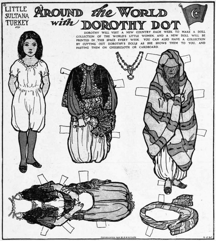 Dorothy Dot paper doll Little Sultana of Turkey (1909)