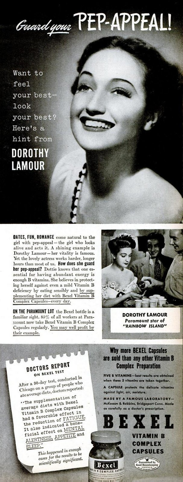 Dorothy Lamour - Pep appeal - LIFE Oct 9, 1944