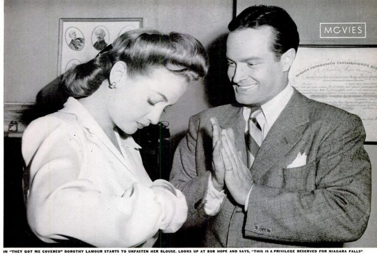 Dorothy Lamour with Bob Hope - 1943