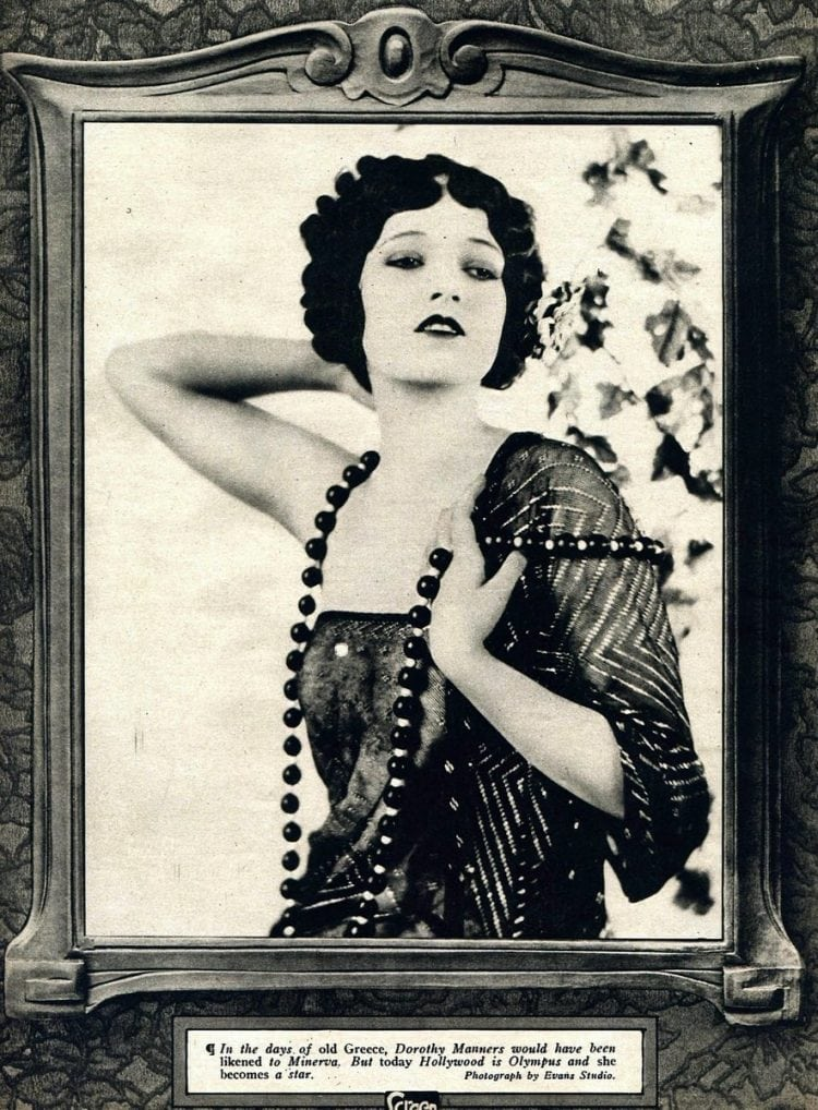 Dorothy Manners - silent movie star fashion