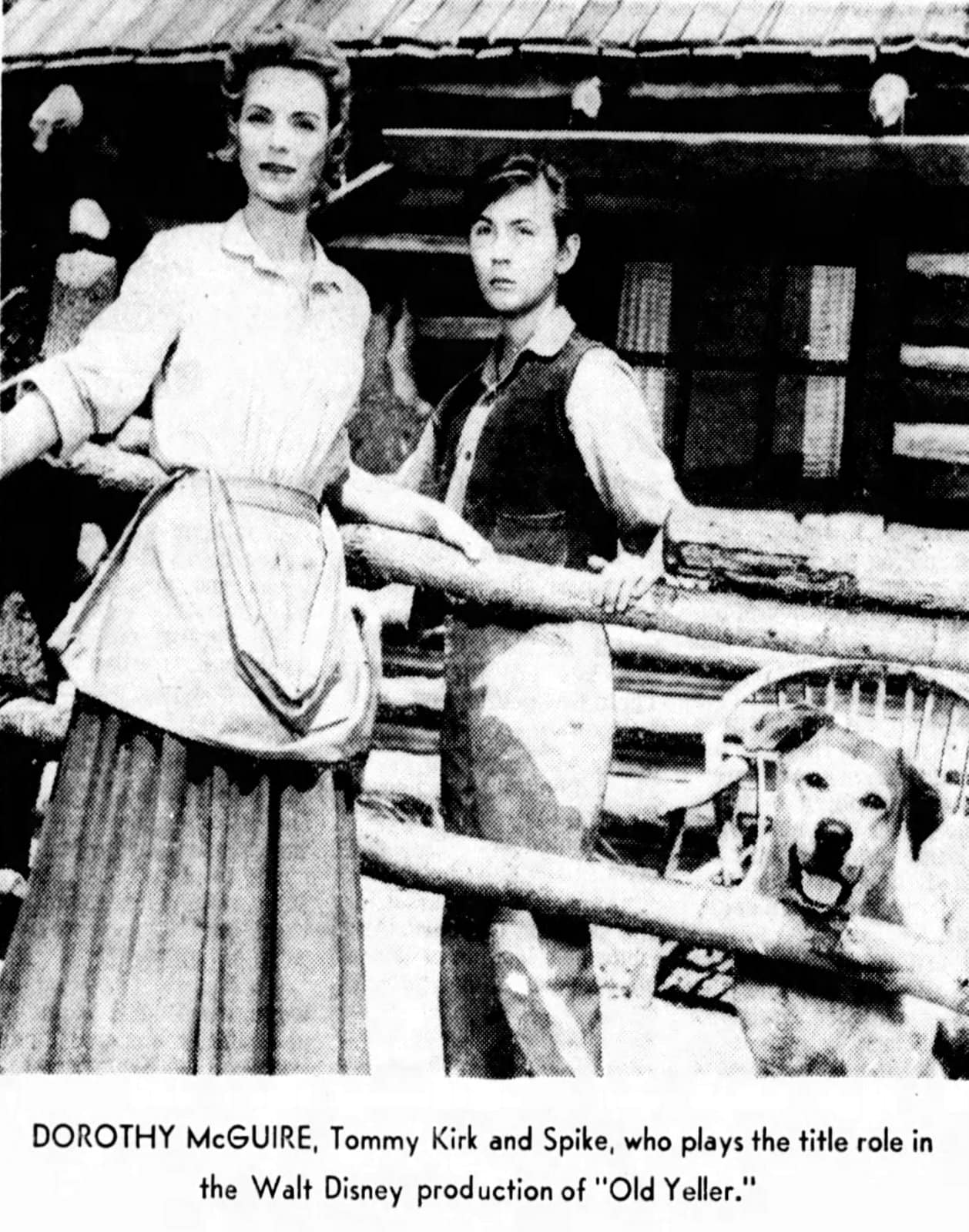 Dorothy McGuire and Tommy Kirk in Old Yeller (1957)