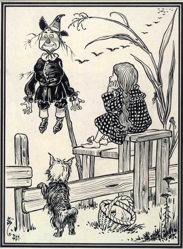Dorothy and the Scarecrow - vintage Oz book