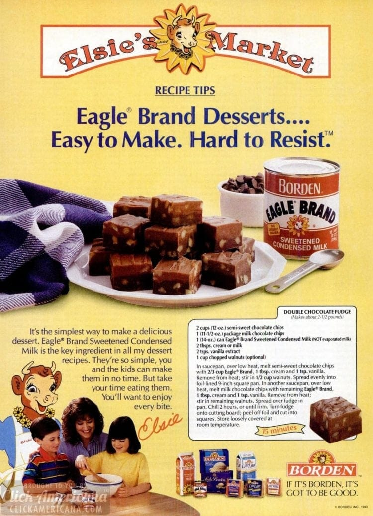How To Make Double Layer Chocolate Fudge 1993 Click Americana