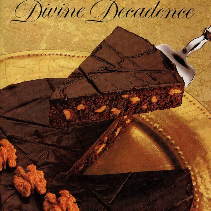 Double dark decadent brownie pie from 1987 - Divine decadence