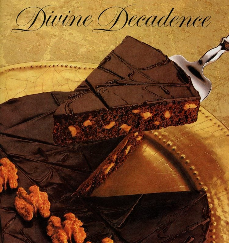 Double dark decadent brownie pie from 1987 - Divine decadence