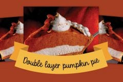 Doublelayer pumpkin pie