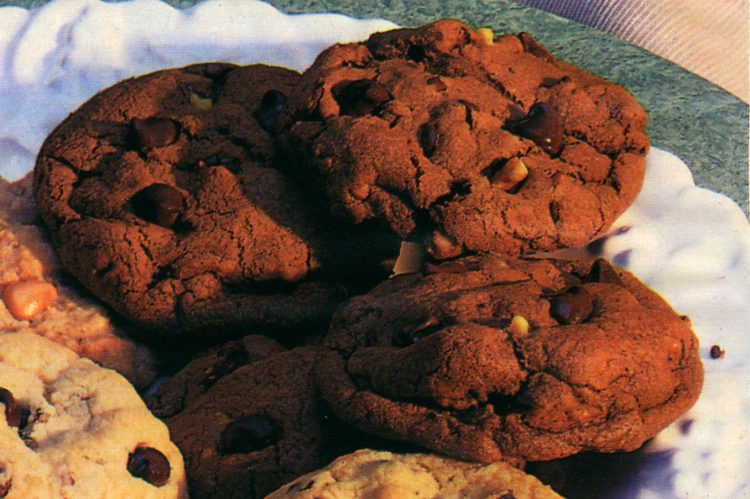 Double mint chocolate chip cookies (1987)