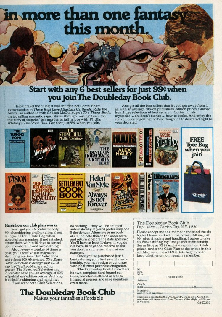 Doubleday Book Club - Fantasy romance books from 1978 (2)