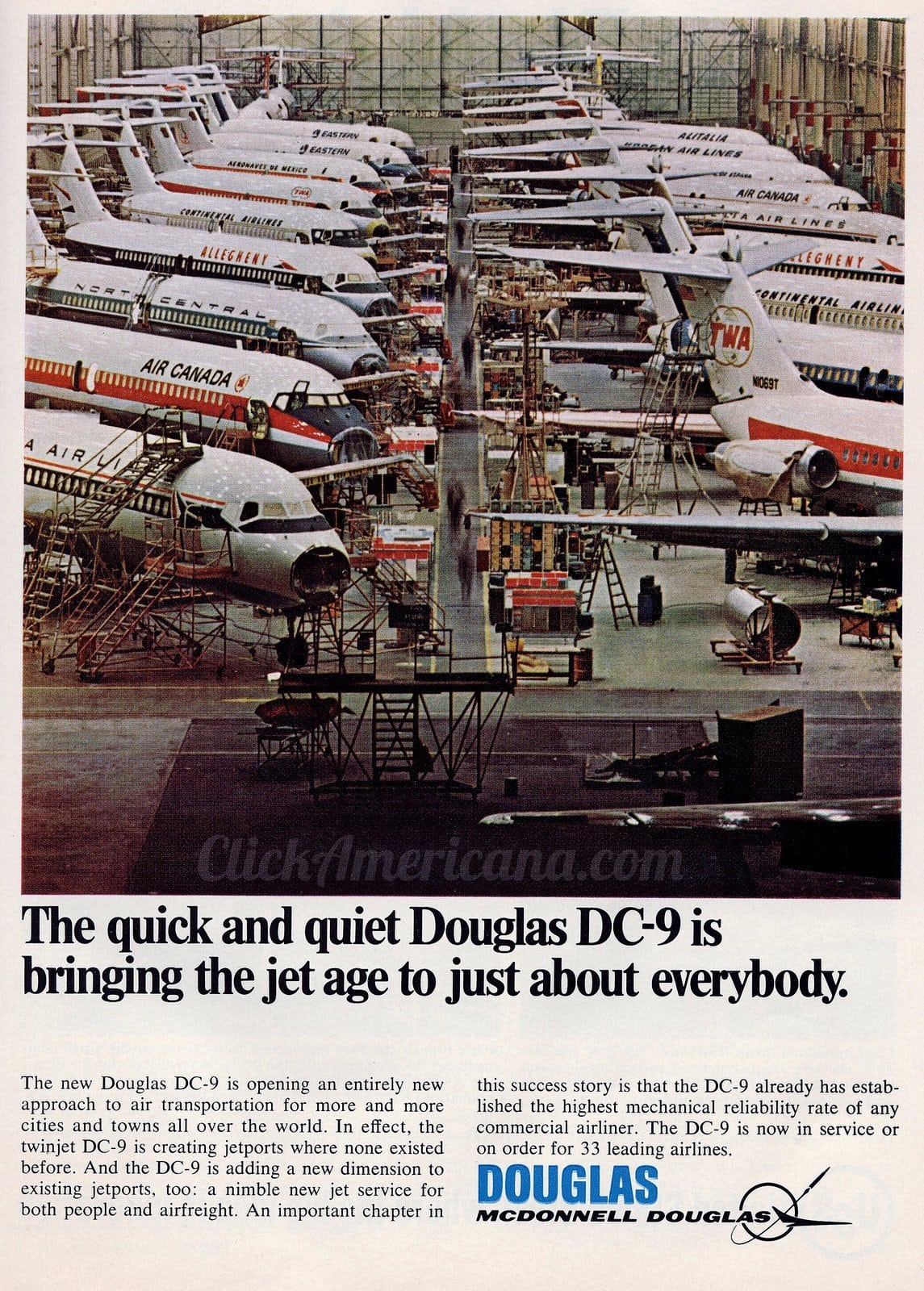 Douglas DC-9 livery in 1967