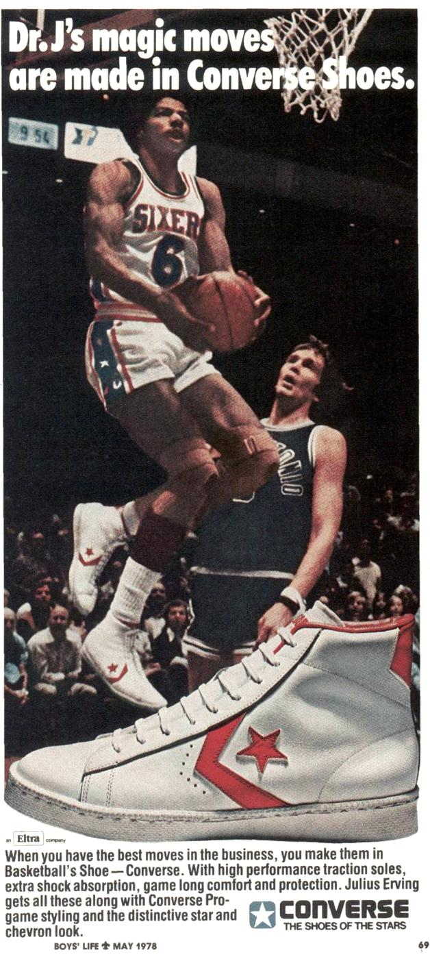 Dr J for Converse basketball shoes - 1978