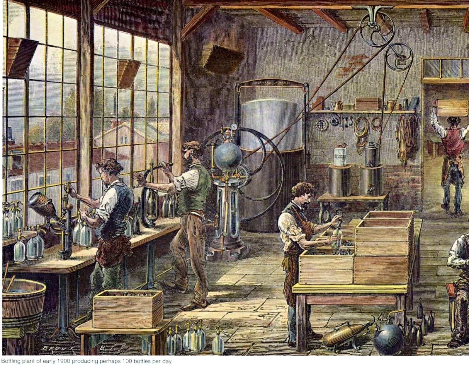Dr Pepper bottling plant around 1900
