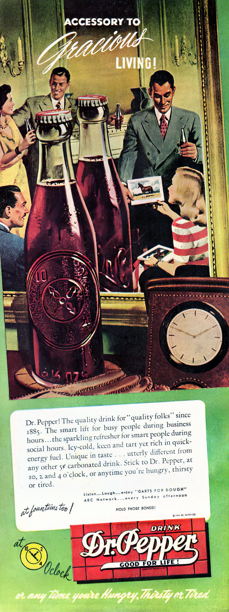 Dr Pepper for gracious living (1946)