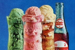 Dr Pepper ice cream and sherbet floats from 1967