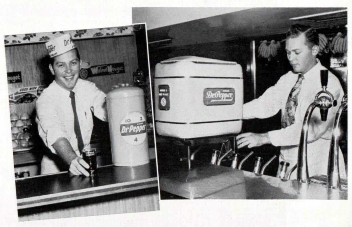 Dr Pepper soda fountains in the 1950s