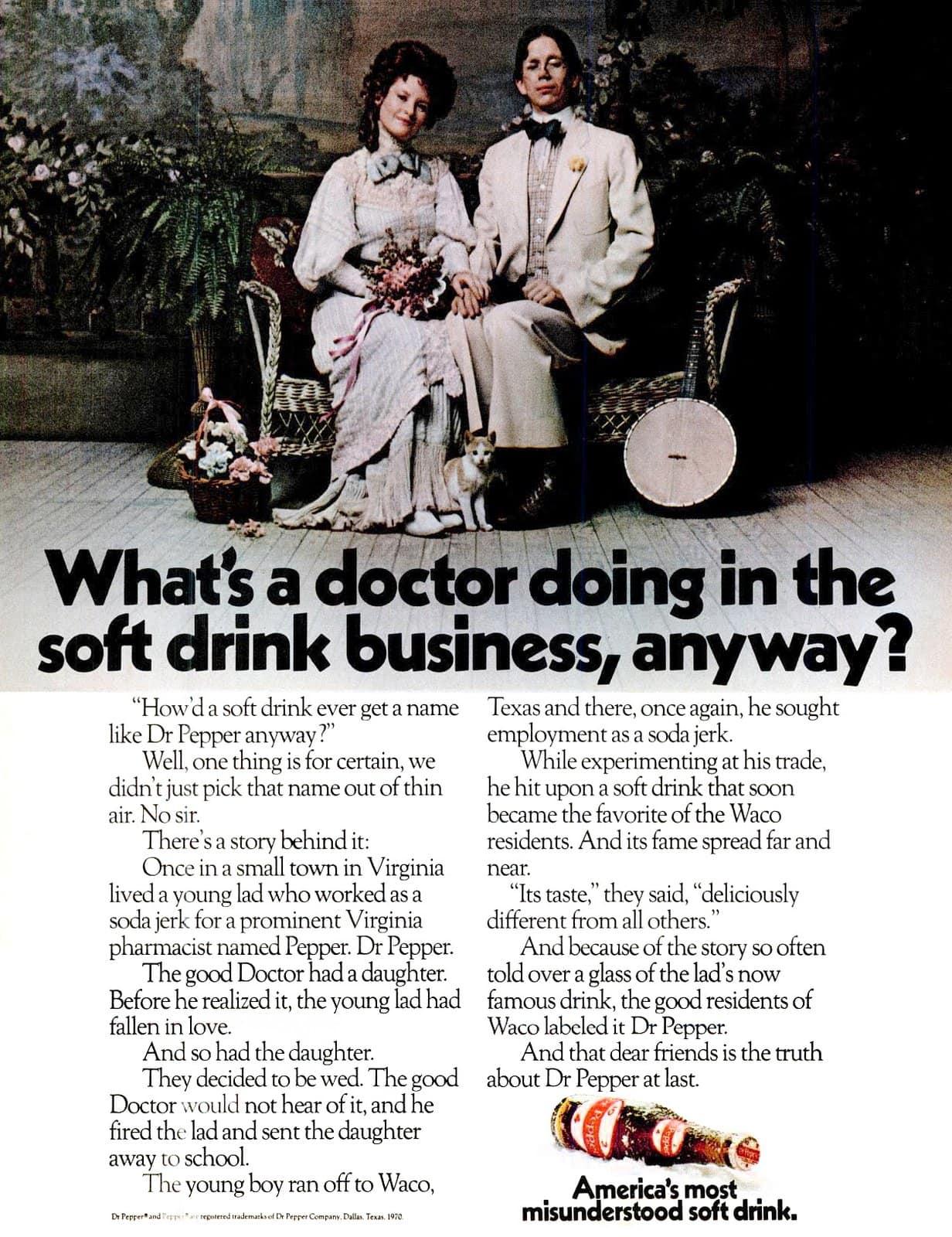 Dr Pepper soft drink business (1970)