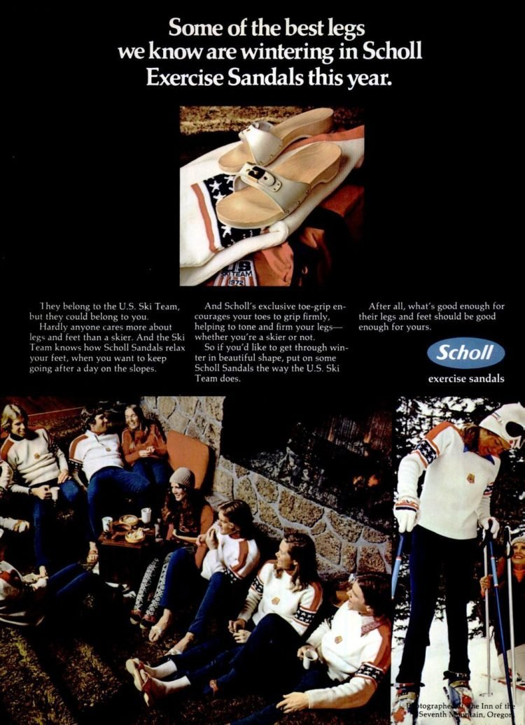 Dr Scholl's exercise sandals from 1972