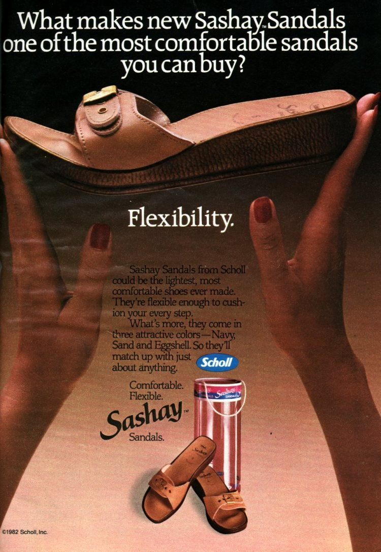 Dr Scholl's vintage Sashay Sandals for women 1980s