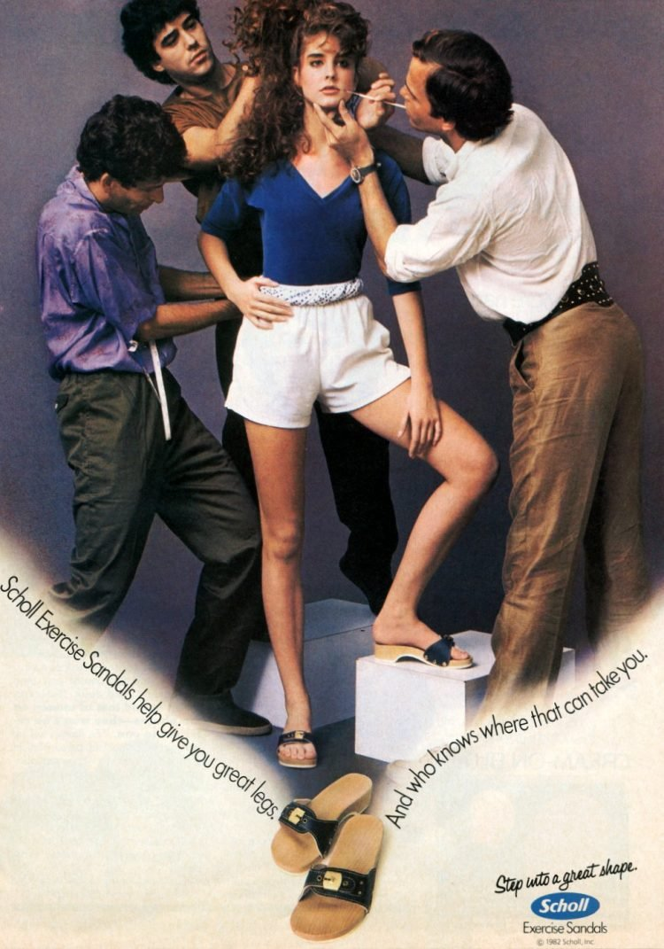 Dr Scholl's wooden Exercise Sandals - 1982