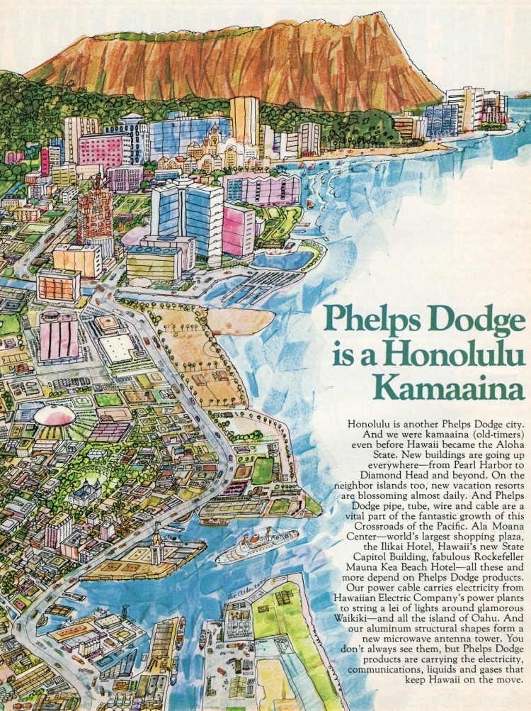 Drawing of Honolulu as of 1963