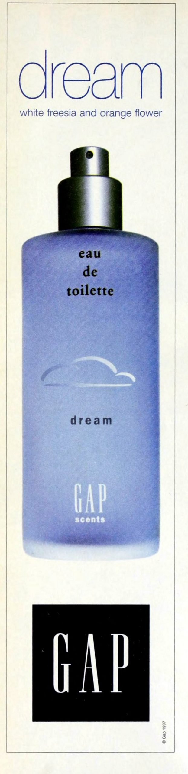 Dream eau de toilette from Gap (1995) at ClickAmericana com