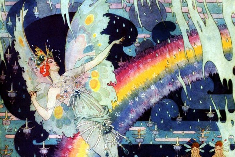 Dreamy vintage rainbow fairy princess at Click Americana(1921)
