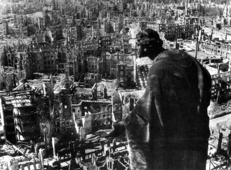 Dresden Germany bombed out - WWII - mentioned in Slaughterhouse-Five