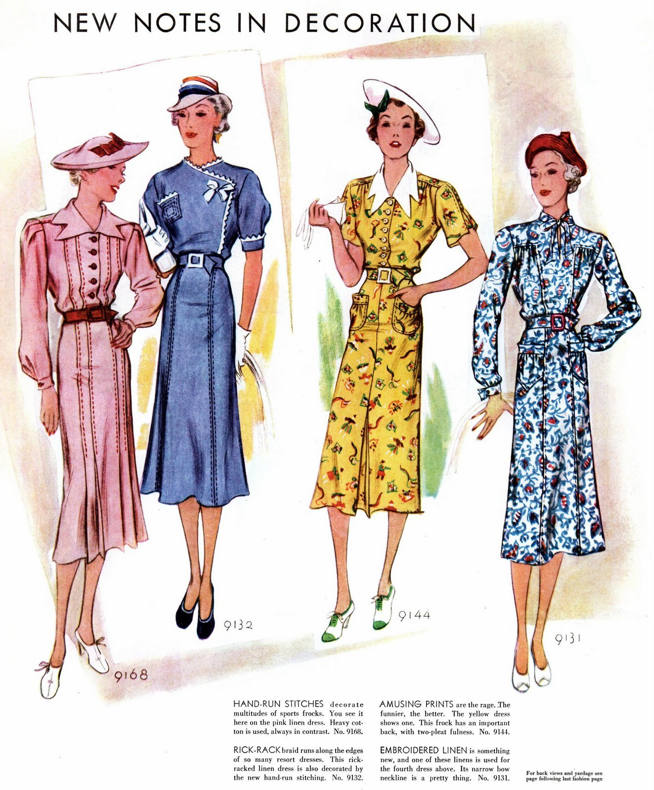 Dress fashions for women from 1937