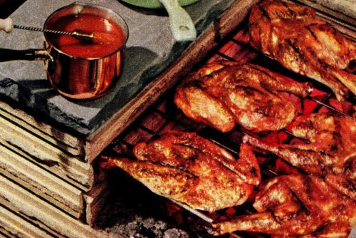 Dress up your BBQ chicken with some fresh, savory jiffy barbecue sauce