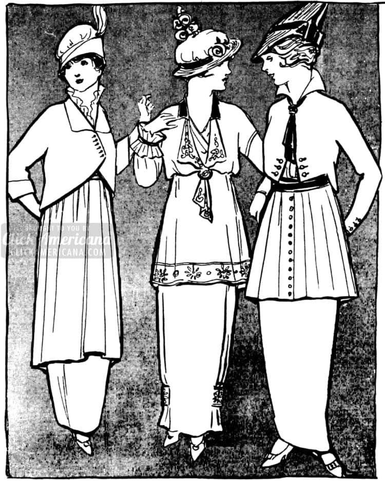 Fashion illustration from 1914