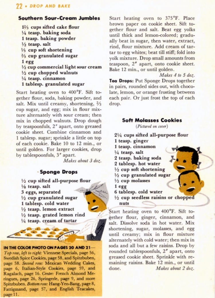 Drop cookie baking tips from 1958