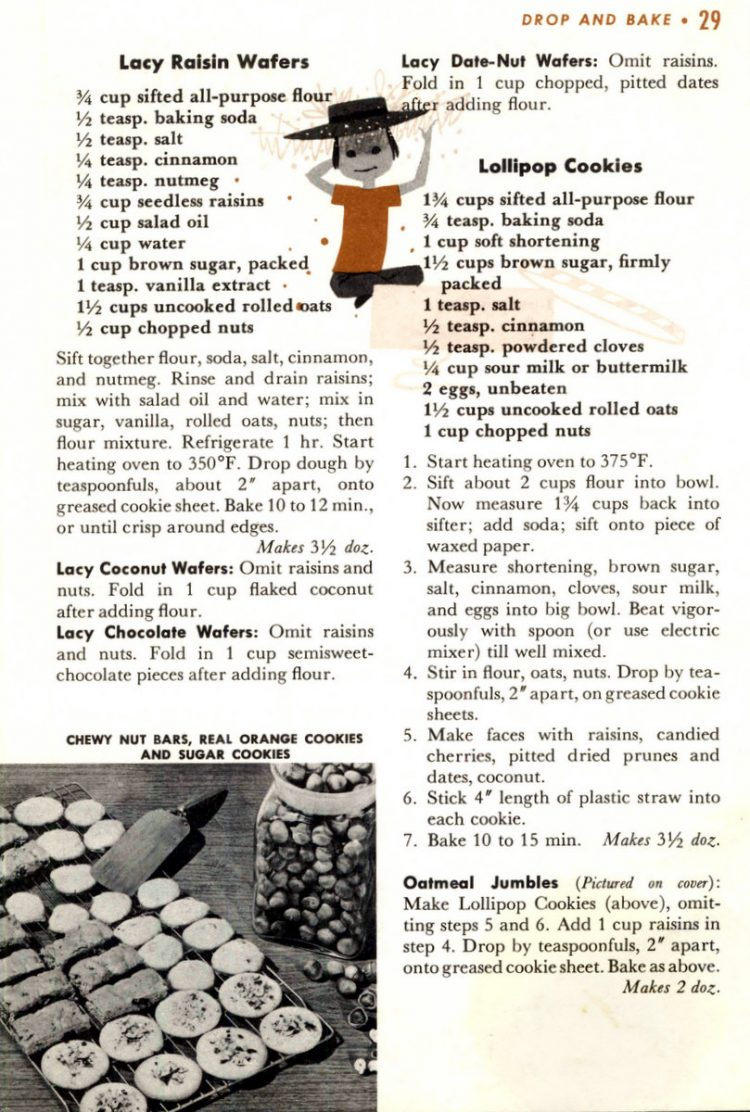 Drop cookie recipes from 1958 (6)