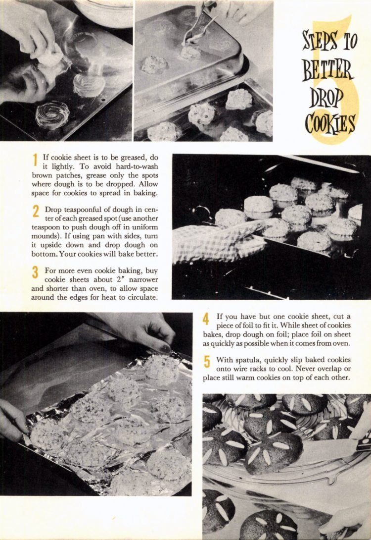 Drop cookie recipes from 1958 (9)